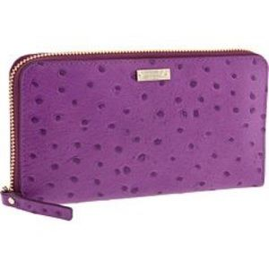 Kate Spade protola valley Lacey ostrich wallet